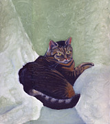 British Shorthair Art - Hazel 2007 by Katherine Miller