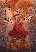 Orange Drawings Posters - Hazel House Poster by Ethan Harris