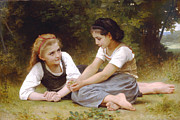 Sisters Art - Hazelnuts by William Bouguereau