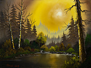 Haze Painting Originals - Hazy Sunset by C Steele