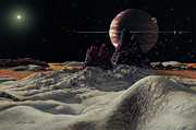 Planetary System Paintings - HD 168443 System by Lynette Cook