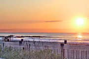 Sell Art Posters - HDR Beach Sunrise Scenic Beaches Photos Pictures Beach Photography Ocean  Picture Photo Buy Sell Poster by Pictures HDR