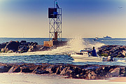 Buy Sell Photo Posters - HDR Boat Boats Fishing Ocean Beach Scenic Landscape Photos Pictures Photography Bay Buy Sell Photo  Poster by Pictures HDR