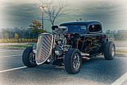 Classic Car.hot-rod Photos - HDR Hot Rod Car Cars Vintage Classic Old Photography Photo Picture Art Gallery Selling Sale Custom by Pictures HDR