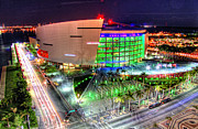 Streetview Posters - HDR of American Airlines Arena Poster by Joe Myeress