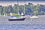 Buy Sell Photo Posters - HDR SailBoat Sailboats Bay Harbor Ocean Sea Photos Pictures Photography Photograph Picture Buy Sell Poster by Pictures HDR