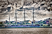 Buy Photos Buy Framed Prints - HDR Tall Ship Boat Pirate Sail Sailing Photography Gallery Art Image Photo Buy Sell Sale Picture  Framed Print by Pictures HDR