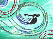 He Comes In The Wind Print by Angela Pelfrey