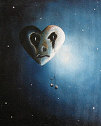 Outsider Art Paintings - He Cried A Song For You Today by Shawna Erback by Shawna Erback