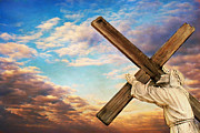 Crucifix Art Photos - He has Risen by Darren Fisher