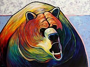 Growling Painting Prints - He Who Greets with Fire Print by Joe  Triano