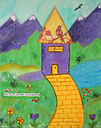 Mountain Road Mixed Media Posters - He will direct our paths Poster by Lauretta Curtis