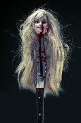 Doll Photos - Head And Knife by Joana Kruse