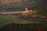 Head Harbour Lighthouse Paintings - Head Harbour East Quoddy Light by Alison Barrett Kent