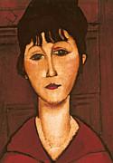 Head Of A Girl Print by Amedeo Modigliani