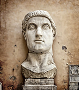 Archaeological Photos - Head of Constantine by Joan Carroll