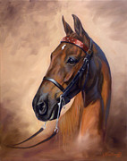 Horse Head Paintings - Head Portrait by Jeanne Newton Schoborg
