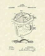Protective Gear Drawings Posters - Head Protector 1914 Patent Art Poster by Prior Art Design