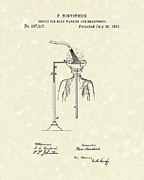 Hair-washing Metal Prints - Head Washer 1887 Patent Art Metal Print by Prior Art Design