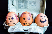 Cracked Eggs Prints - Headache Eggs. Print by Gary Gillette