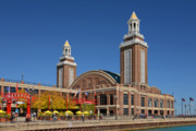 Amusement Park Framed Prints - Headhouse Chicago Navy Pier Framed Print by Christine Till