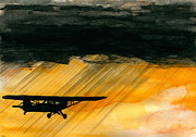 Plane Paintings - Heading for the Hole by R Kyllo