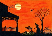Haunted House Paintings - Heading Home by Christine Altmann