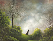 Surrealism Painting Originals - Heading Home. Fantasy Landscape Fairytale Art By Philippe Fernandez by Philippe Fernandez