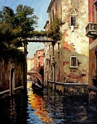 Gondolier Painting Prints - Heading Home Print by Michael Swanson