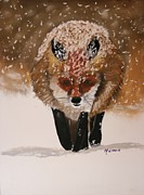 Fox Pastels Prints - Heading Home Print by Michele Turney