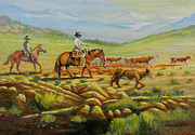 Featured Originals - Heading to a New Pasture by Denis Grosjean