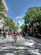 University Of Wisconsin Prints - Heading to Camp Randall Print by David Bearden