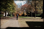 Nature Study Digital Art - Heading To Class - Davidson College by Paulette Wright