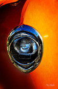 Orange Car Art - Headlamp by Mary Machare