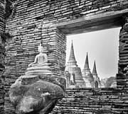Ayutthaya Prints - Headless Buddha at Wat Phra Si Sanphet Print by Paul W Sharpe Aka Wizard of Wonders