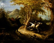Horseman Prints - Headless Horseman pursuing Ichabod Crane Print by Pg Reproductions