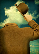 Thinking Back Posters - Headless Man with Bowler Hat Poster by Jill Battaglia