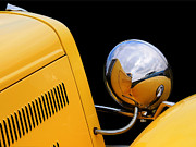 1930s Decor Posters - Headlight reflections in a 32 Ford Deuce Coupe Poster by Gill Billington
