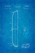 Headrick Frisbee 2 Patent Art 1967 Blueprint Print by Ian Monk