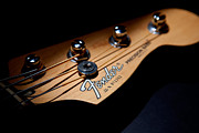 Bass Guitar Prints - Headstock Print by Peter Tellone