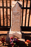 Butch Cassidy Photo Prints - Headstones Grafton Ghost Town Cemetery Rockville Utah Print by Robert Ford