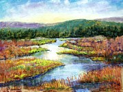 Etc. Pastels Prints - Headwaters of Blackwater Print by Bruce Schrader