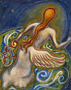 Shamanistic Paintings - Healing Angel by Annette Wagner