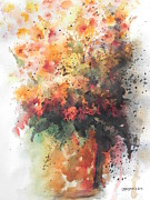 Abstract Vase Flower Print Prints - Healing Print by Chrisann Ellis