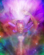 Crown Chakra Prints - Healing Crown Print by Carol Cavalaris