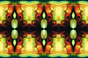 Burnt-orange Prints - Healing Energy - Visionary Art By Sharon Cummings Print by Sharon Cummings