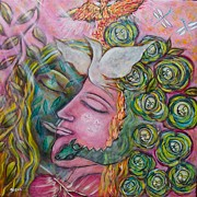 Sacred Feminine Paintings - Healing by Havi Mandell