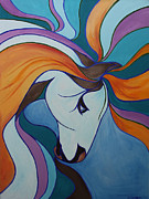Handicapped Paintings - Healing Horse by Katrina LeAndro
