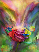 Chakra Art Framed Prints - Healing Rose Framed Print by Carol Cavalaris