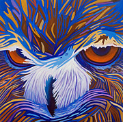 Owl Metal Prints - Healing Solitude Metal Print by Brian  Commerford